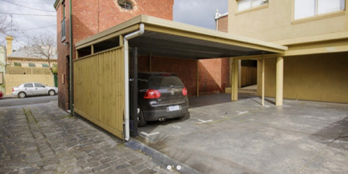 Undercover parking on Moray Street in South Melbourne