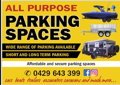 Outdoor lot parking on Greenacre Rd in Greenacre