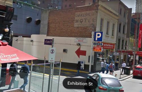 Exhibition street undercover carpark