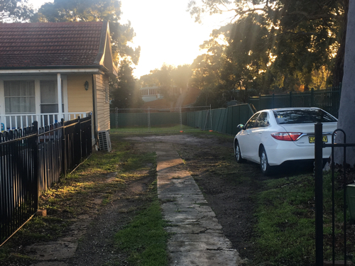 parking on Willarong Road in Caringbah