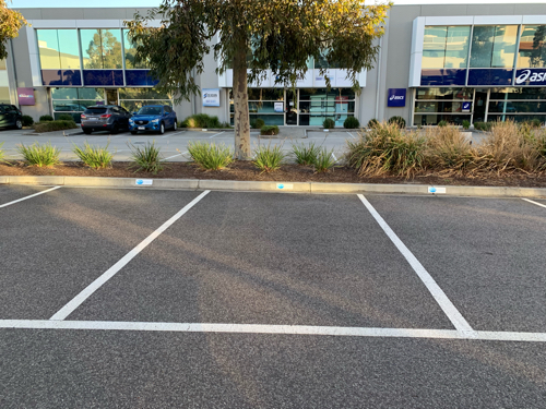 parking on
