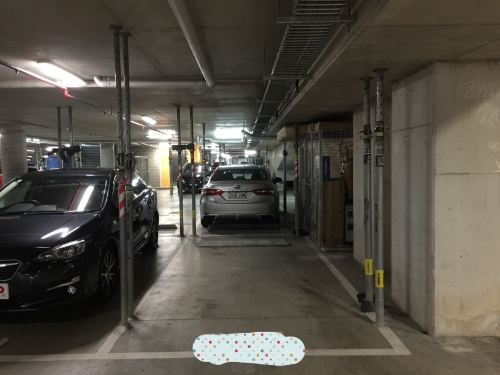 secured underground car space available for rent