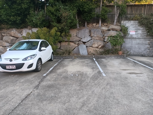 Outdoor lot parking on Teneriffe Apartments in 241 Arthur St