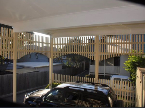 Carport parking on Terrace St in New Farm
