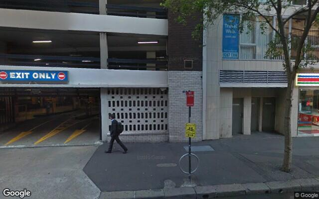 Indoor lot parking on Kent St in Sydney NSW 2000
