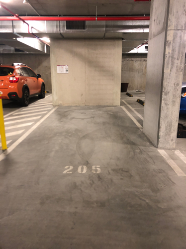 Indoor lot parking on Bank St in West End