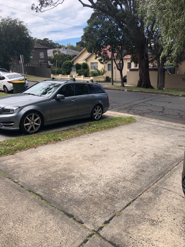Driveway parking on Barker St in Kingsford NSW 2032