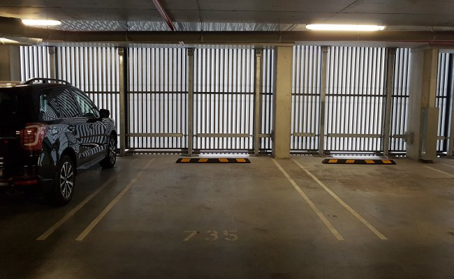 Indoor lot parking on Collins Street in Docklands VIC