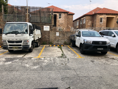 Outdoor lot parking on Park Parade in Bondi New South Wales