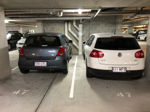 Undercover parking on Tribune St in South Brisbane