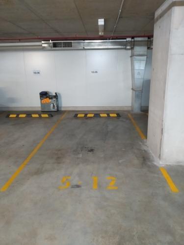 Indoor parking lot infront of Redfern station