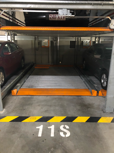 Indoor lot parking on Alfred St in Fortitude Valley