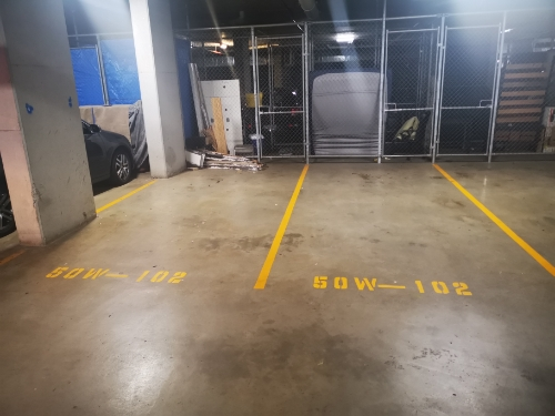 Indoor lot parking on Walker Street in Rhodes New South Wales