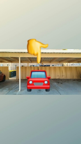Carport parking on Ward St in North Adelaide