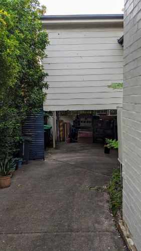 Carport parking on Tambourine Bay Rd in Lane Cove