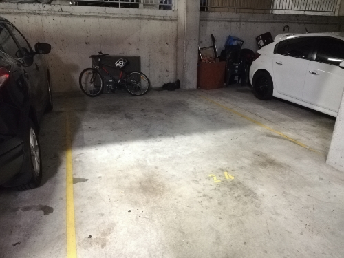 Unused car space.