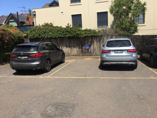 Outdoor lot parking on Flemington Rd in North Melbourne