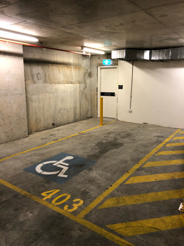 Indoor lot parking on Oxford Street in Bondi Junction New South Wales