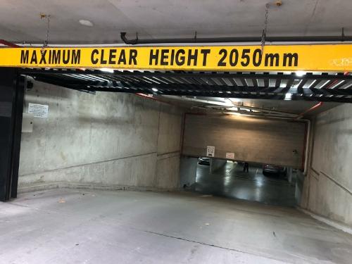 Indoor lot parking on Dudley St in West Melbourne