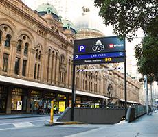 Indoor lot parking on York St in Sydney