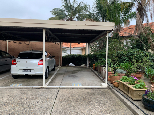 Undercover parking on Peel St in Kirribilli