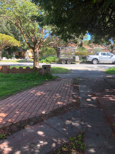 Driveway close to Stirling Highway bus stop.