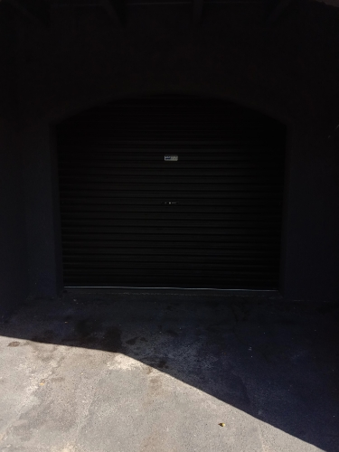 Lockable carport with lighting