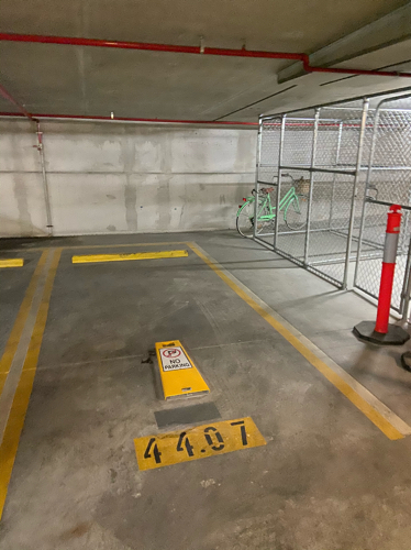 The carpark space is inside the Brisbane Skytower