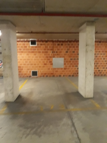 Secure, basement parking close to public transport, offices and shops.