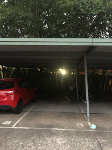 Undercover car port on quiet street in central Enmore