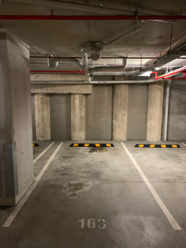 Underground, secured car park in central location. 300m from Fortitude Valley train station
