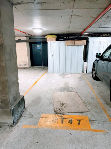 Secured car space - across from Redfern station